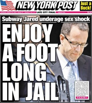 Jared Fogle New York Post cover